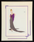 Prints & Multiples, Erté (Romain de Tirtoff) (Russian/French, 1892-1990). At the Ball, 1980. Serigraph on paper. 19-1/2 x 13-3/4 inches (49....