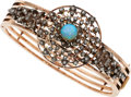 Estate Jewelry:Bracelets, Antique Opal, Diamond, Rose Gold, Silver-Topped Gold Bracelet, French . ...