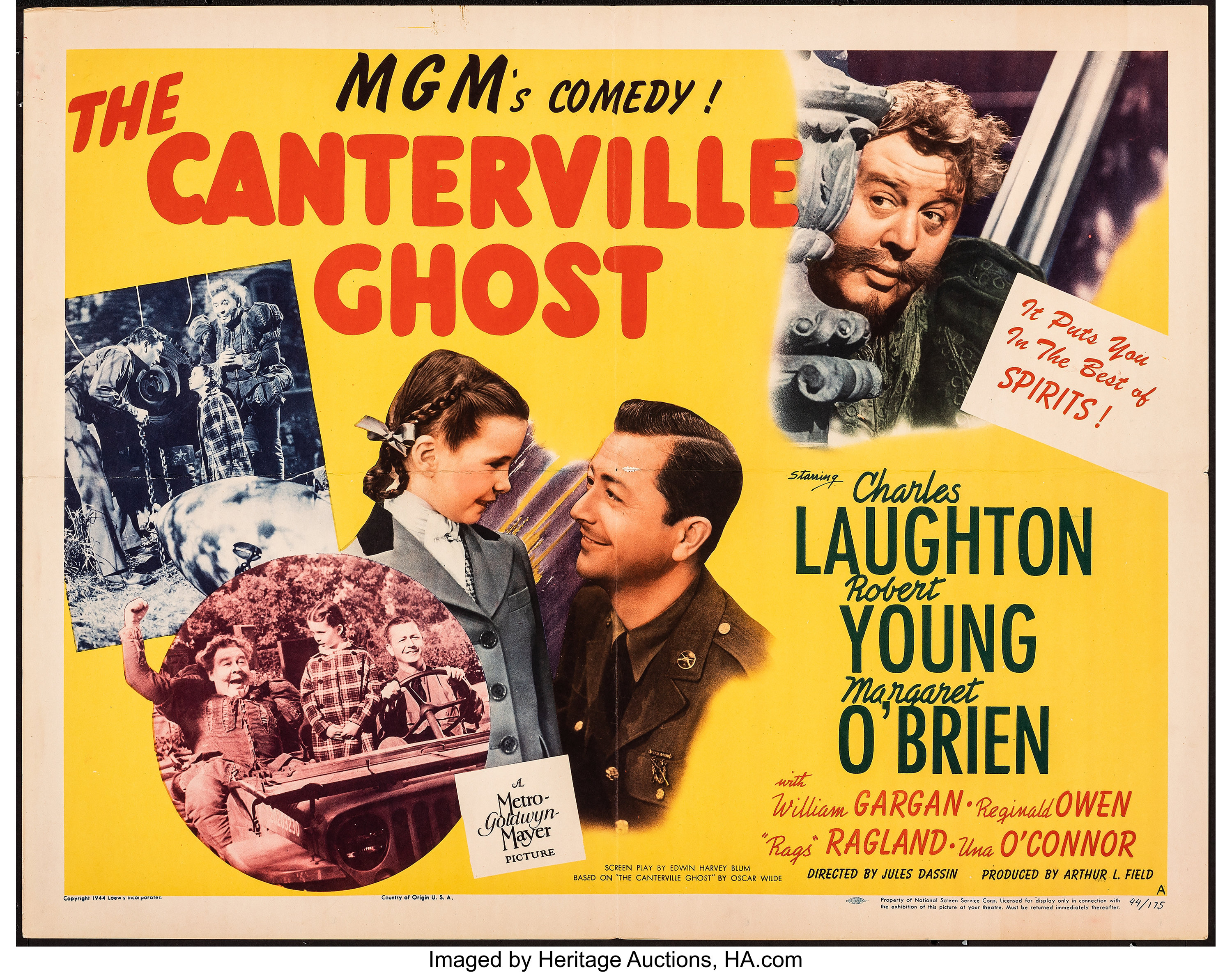 The Canterville Ghost (MGM, 1944). Folded, Very Fine. Half Sheet | Lot  #51090 | Heritage Auctions