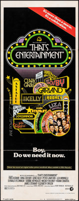 """That's Entertainment! (MGM, 1974). Folded, Fine. Insert (14"""" X 36""""). Musical"""