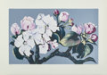 Prints & Multiples, Lowell Nesbitt (1933-1993). Apple Blossoms, 1980. Serigraph in colors on paper. 35-5/8 x 17-7/8 inches (90.5 x 45.4 cm) ...
