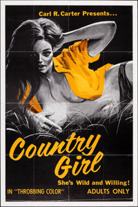 """Country Girl & Other Lot (Carl R. Carter, 1968). Folded, Fine/Very Fine. One Sheets (2) (28"""" X 42"""" & 2..."""