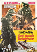 """Movie Posters:Science Fiction, Godzilla vs. the Smog Monster (Constantin-Film, 1972). Folded, Fine/Very Fine. German A1 (23.5"""" X 33""""). Science Fiction.. ..."""