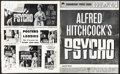 """Movie Posters:Hitchcock, Psycho (Paramount, 1960). Folded, Very Good/Fine. Uncut Pressbook (32 Pages, 12.25"""" X 15""""). Hitchcock.. ..."""