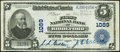 National Bank Notes:Maine, Biddeford, ME - $5 1902 Plain Back Fr. 598 The First National Bank Ch. # 1089 Very Fine-Extremely Fine.. ...