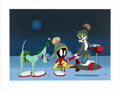 "Animation Art:Seriograph, ""Haredevil Hare"" Bugs Bunny with Marvin the Martian and K-9 Limited Edition Serigraph Print #64/275 (Warner Brothers, 2008)...."