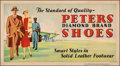 """Movie Posters:Miscellaneous, Peters Shoes (Compton & Sons, c. 1930s). Very Fine- on Linen. Advertising Poster (44"""" X 24""""). Miscellaneous.. ..."""