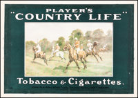 """Player's """"Country Life"""" (Imperial Tobacco, c. 1920s). Fine- on Linen. British Advertising Poster (16.5"""" X..."""