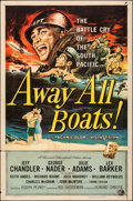 """Movie Posters:War, Away All Boats & Other Lot (Universal International, 1956). Folded, Fine/Very Fine. One Sheets (4) (27"""" X 41""""). Reynold Brow... (Total: 4 Items)"""