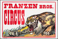 """Movie Posters:Miscellaneous, Franzen Brothers Circus (1970s). Folded, Very Fine. Posters (4) (42"""" X 28"""" & 14"""" X 42""""). Miscellaneous.. ... (Total: 4 Items)"""