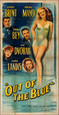 """Out of the Blue (Eagle Lion, 1947). Folded, Fine+. Three Sheet (41"""" X 80""""). Comedy"""