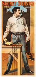 """Movie Posters:Miscellaneous, Secret Service (1896). Fine- on Linen. Theater Three Sheet (40"""" X 85""""). Miscellaneous.. ..."""