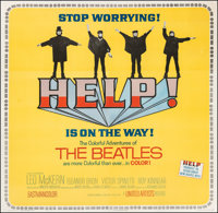 "Help! (United Artists, 1965). Fine+ on Linen. Six Sheet (80"" X 78.75""). Rock and Roll"
