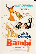 """Movie Posters:Animation, Bambi & Other Lot (Buena Vista, R-1975). Folded, Fine/Very Fine. One Sheets (2) (27"""" X 41""""). Animation.. ... (Total: 2 Items)"""