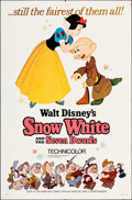 """Movie Posters:Animation, Snow White and the Seven Dwarfs (Buena Vista, R-1967). Folded, Fine+. One Sheet (27"""" X 41"""") Style A. Animation.. ..."""
