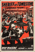 "Movie Posters:Western, Sheriff of Tombstone & Other Lot (Republic, 1941). Folded, Fine/Very Fine. One Sheet & Stock One Sheet (27"" X 41""). Western.... (Total: 2 Items)"