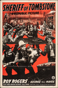 """Sheriff of Tombstone & Other Lot (Republic, 1941). Folded, Fine/Very Fine. One Sheet & Stock One Sheet (27""""..."""