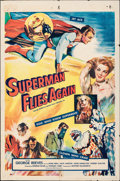"""Movie Posters:Action, Superman Flies Again (20th Century Fox, 1954). Folded, Fine-. International One Sheet (27"""" X 41""""). Action.. ..."""
