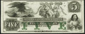 Obsoletes By State:Rhode Island, Newport, RI- New England Commercial Bank $5 18__ Remainder Choice Crisp Uncirculated.. ...