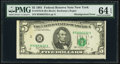 Misalignment Error Fr. 1976-B $5 1981 Federal Reserve Note. PMG Choice Uncirculated 64 EPQ
