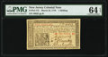Colonial Notes:New Jersey, New Jersey March 25, 1776 1s PMG Choice Uncirculated 64 EPQ.. ...