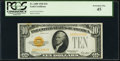 Small Size:Gold Certificates, Fr. 2400 $10 1928 Gold Certificate. PCGS Extremely Fine 45.. ...