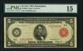 Fr. 834b $5 1914 Red Seal Federal Reserve Note PMG Choice Fine 15