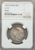 Canada: Victoria 50 Cents 1870 VF35 NGC