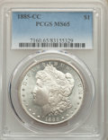 1885-CC $1 MS65 PCGS. PCGS Population: (4517/1381). NGC Census: (1800/782). CDN: $780 Whsle. Bid for problem-free NGC/PC...