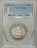 1877-CC 25C MS63 PCGS. PCGS Population: (128/187 and 1/16+). NGC Census: (84/140 and 2/6+). CDN: $900 Whsle. Bid for NGC...