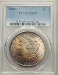 Morgan Dollars: , 1882 $1 MS65 PCGS. PCGS Population: (1882/446). NGC Census: (1263/224). CDN: $290 Whsle. Bid for problem-free NGC/PCGS MS65...