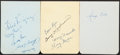 Autographs:Others, 1948 St. Louis Cardinals Signed Team Sheets. ...