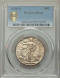1936-S 50C MS64 PCGS. PCGS Population: 844 in 64 (14 in 64+), 1239 finer (12/19). NGC Census: 471 in 64 (3 in 64+), 638...