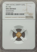 California Fractional Gold , 1859 25C Liberty Octagonal 25 Cents, BG-702, R.3, -- Scratches -- NGC Details. Unc. NGC Census: (1/78). PCGS Population: (2...