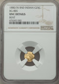 California Fractional Gold , 1880/76 25C Indian Round 25 Cents, BG-885, R.3, -- Bent -- NGC Details. Unc. NGC Census: (0/34). PCGS Population: (3/181)....