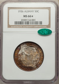 1936 50C Albany MS66★ NGC. CAC. NGC Census: (551/147 and 2/12*). PCGS Population: (954/208 and 2/12*). CDN: $280 Whsle...