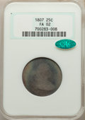 Early Quarters: , 1807 25C Fair 2 NGC. CAC. NGC Census: (15/190). PCGS Population: (38/489). Mintage 220,643. ...