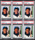 Baseball Cards:Singles (1970-Now), 1989 Upper Deck Ken Griffey Jr. #1 PSA-Graded Collection (6). ...
