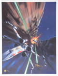 "Memorabilia:Science Fiction, ""The Trench"" Star Wars Signed Limited Edition Art Poster Print by John Alvin #125/350 (Lucasfilm, 2005)...."