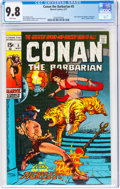 Bronze Age (1970-1979):Adventure, Conan the Barbarian #5 (Marvel, 1971) CGC NM/MT 9.8 White pages....