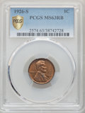 Lincoln Cents: , 1926-S 1C MS63 Red and Brown PCGS. PCGS Population: (172/245 and 0/4+). NGC Census: (72/143 and 1/0+). CDN: $650 Whsle. Bid...