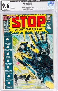 DC Special #10 Stop... You Can't Beat the Law - Murphy Anderson File Copy (DC, 1971) CGC NM+ 9.6 White pages
