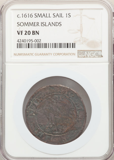 Sommer Islands Shilling, Small Sail 20 NGC
