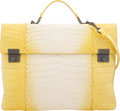 "Luxury Accessories:Bags, Bottega Veneta Yellow Ombre Crocodile Fume Briefcase. Condition: 2. 14.5"" Width x 11"" Height x 1"" Depth. ..."