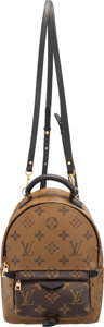 """Luxury Accessories:Bags, Louis Vuitton Reverse Monogram Coated Canvas Palm Springs Mini Backpack. Condition: 2. 6"""" Width x 9"""" Height x 3.5"""" Dep..."""