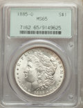 1885-O $1 MS65 PCGS. PCGS Population: (21468/3211). NGC Census: (29853/5302). MS65. Mintage 9,185,000. ...(PCGS# 7162)