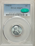 1943-S 1C MS67+ PCGS. CAC. PCGS Population: (2134/114 and 224/1+). NGC Census: (2648/54 and 60/1+). CDN: $160 Whsle. Bid...