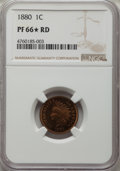 Proof Indian Cents: , 1880 1C PR66★ Red NGC. NGC Census: (11/2 and 1/0*). PCGS Population: (17/9 and 1/0*). PR66. Mintage 3,955. ...