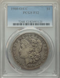 1900-O/CC $1 Fine 12 PCGS. PCGS Population: (14/6674). NGC Census: (8/2817). CDN: $55 Whsle. Bid for problem-free NGC/PC...
