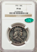 Thirteen-Piece Franklin Half Dollar Proof Set PR66 NGC. The dates for this set will include: 1951 CAC; 1952, 1953; 1954;...